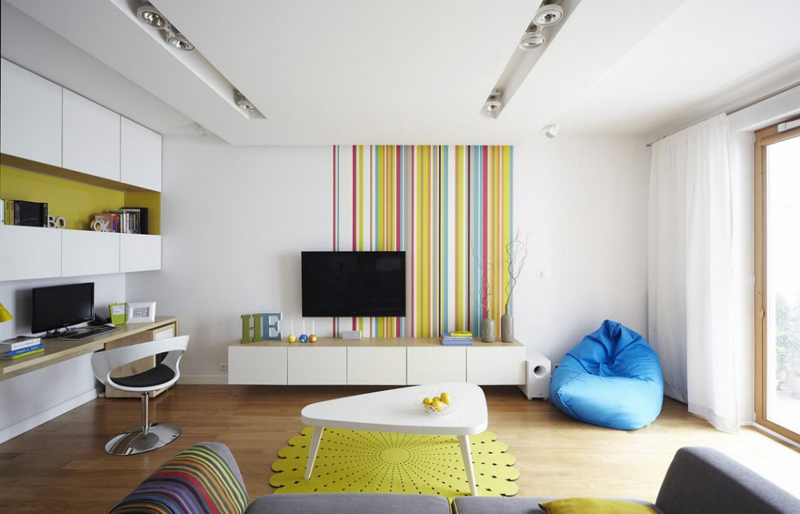 Colorful-striped-wall